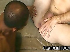 Fetish addict toying his ass