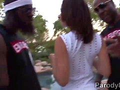 Miami su Il fuoco con a caldo Latine di Jada Stevens e di di Emy Reyes