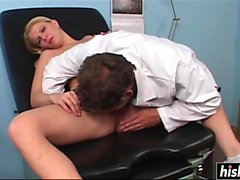 Hot slut loves the Dr's cock