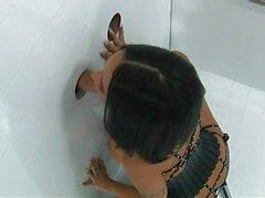 Schwarzem Haarig Fetischmädchen entdecken Gloryhole