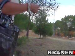 Krakenot - Provocative milf in voyeur video outdoor