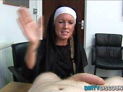 Real brit nun punishing hard cock