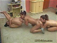 Brasilianischen Lesbisch Ass Lickers 3