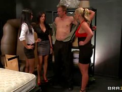 Phoenix Marie Kortney Kane and Jessica Jaymes play with boytoy