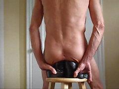 Doppel sehen Ass Fuck sowie Monster schwarze Hahn Dildos