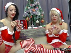 Weihnachten scherzt mit April Paisley und Alessa Savage