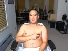Asiatischer Vati über Webcam erneut