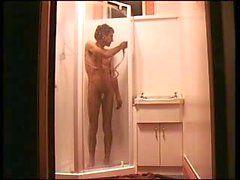 steves private shower wank and cums