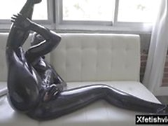 Hot pornstar latex e gozada