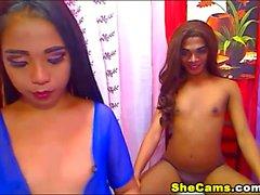 Minik Göğüsler Travestiler Striptiz ve Cam mastürbasyon