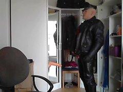 I läder Motorcycle plast knulla