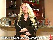 Brutal Gangbang of a Blonde Bitch