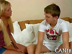 Fantastic teen babe with pigtails fucks her boyfriend