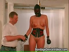 Chubby babe is bound and spanked to test part6