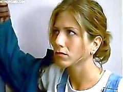 Jennifer Aniston laat ventilator Jerkoff naar haar terwijl betasten haar borst