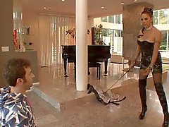Hot Mature Mistress Angela D'Angelo Banged Hard In Boots