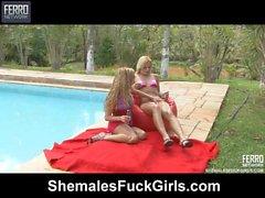 Тайцы и Юлия Shemale и pussygirl поддержки на видео