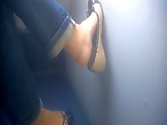 Pés Candid - Mulheres maduras - autocarros - dos pés 39
