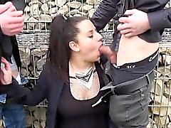 Kiraz Fishnet'te in gangbanged
