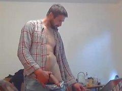Big Dick White Guy Jerks Off & Cums auf Cam