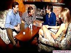 Cuckold Gangbang While Husband Sleep