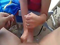 sega e di sperma sulla spiaggia WF