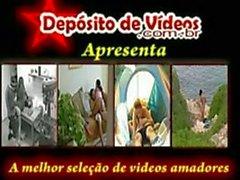 Dilettanti paio brasiliani preso su nastro durante la vacanza