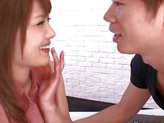 Unshaved Japanese model nailed in bedroom