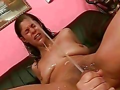 Two guys fucking and pissing on sex girl