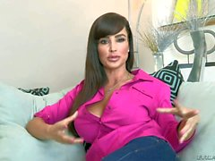 Busty and hot Lisa Ann shows her body