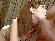 Orientalisch Brüste Mütter Sperma bedeckt