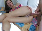 Mature bitch is getting both of her holes fucked by large cock