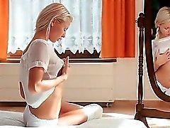 Beauté blanc cant stop du goder sa chatte bandante