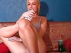 Cute Kayden Kross getting drunk in an interview