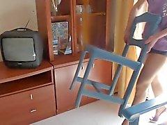 Hausfrau in Nylons und High Heels 01