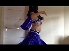 Hijab Belly Dance Strip Tease Rubbing Clit and Super Squirting