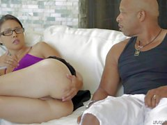 Dana Vespoli shows her nice Ass to black guy