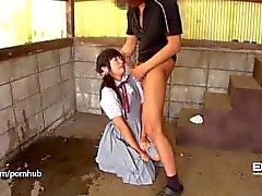 Erito chica de la escuela de Shy se abre