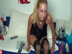 Eine Nacht in meiner WebCam 3 - Passion-Girl German Amateur