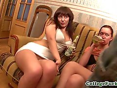Layla plus Lola and Ruby pussyfuck with Sunny