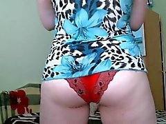 red panty