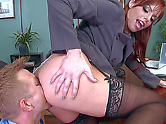Short office hardcore fuck along breasty Britney Amber,