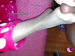 chinese nylon footjob 2