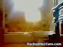 Senza So Smart Biondo Riproduce amatoriale stessa su Webcam