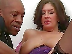 Big breasted classy wife got her twat fingered by black dude