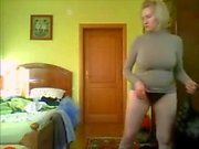 Morning time. Hidden cam in bedroom of my nice mom