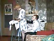 Blond strips off and gets her cunt that is experienced full