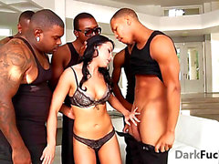 Brutal interracial anal group-sex HD Porn Clips