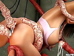 Vignette Porn di tentacolo Monsters Fanculo di Celeb ultima 3D