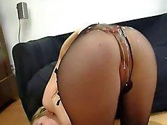 German - My everyday life Pantyhose and cum